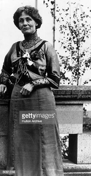 British feminist and suffragette Emmeline Pankhurst