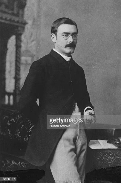 Indian born English author Rudyard Kipling . He wrote about Anglo-Indian society and children's stories such as,'The Jungle Book' and the 'Just So...