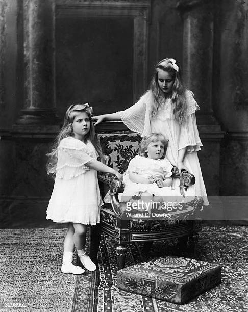 The children of King Ferdinand and Queen Marie of Romania at Buckingham Palace London Princess Marie who later married King Alexander Karadjordjevic...