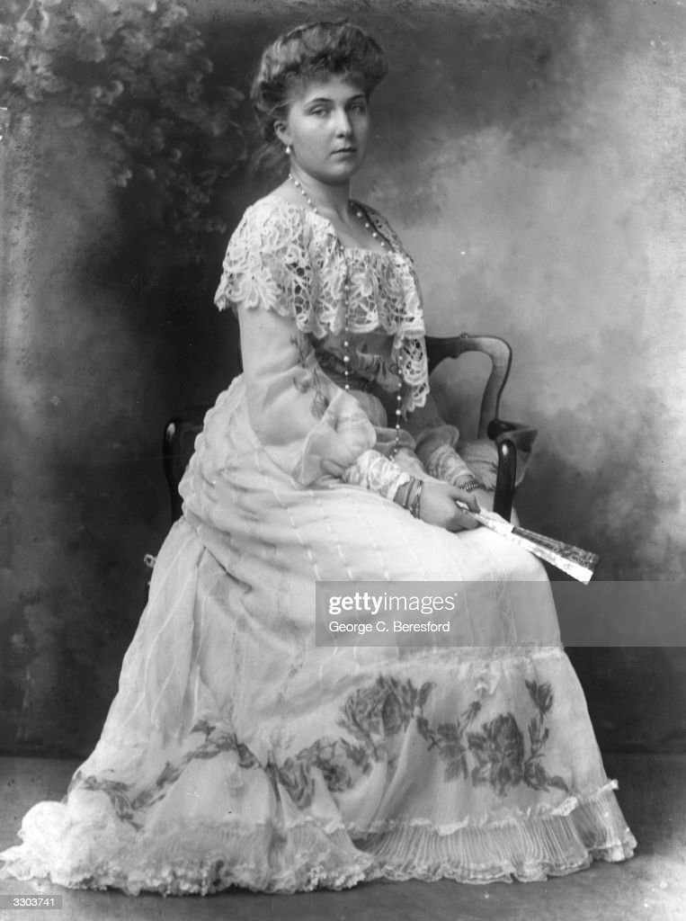 Princess Victoria Eugenie (Ena) of Battenberg (1887 - 1969), a grand-daughter of Queen Victoria, before her marriage to King Alfonso XIII of Spain.