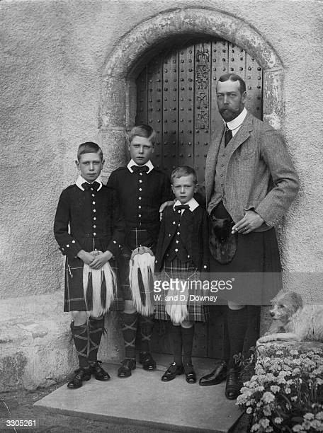The Prince of Wales with three of his sons at Balmoral Prince Henry Prince Edward later King Edward VIII and Prince George later King George VI...