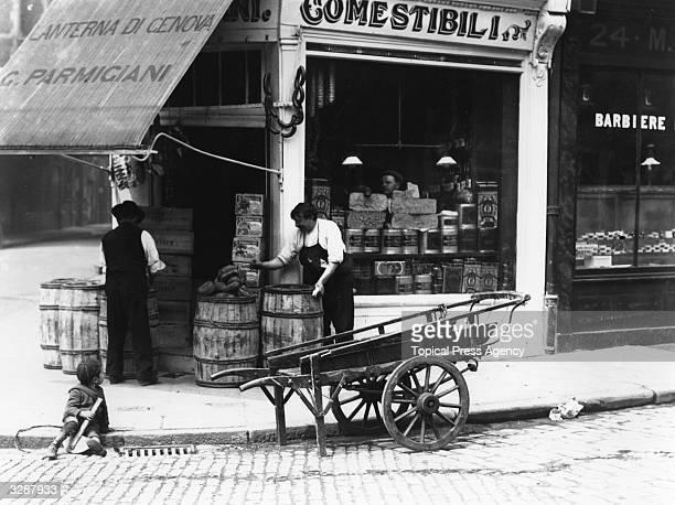 An Italian delicatessen in London.