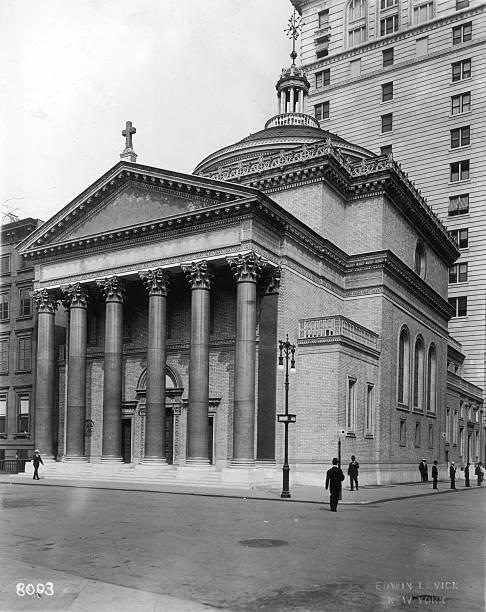 The Madison Square Presbyterian Church, on the corner...
