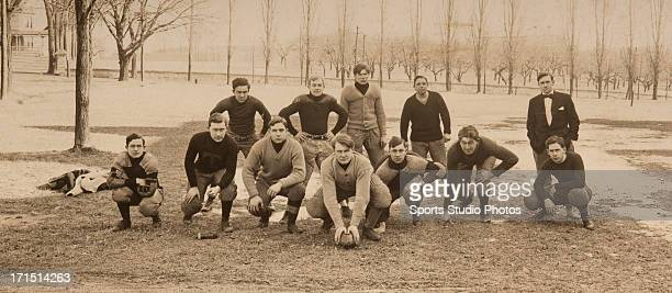 Circa 1907 Tilton College football team