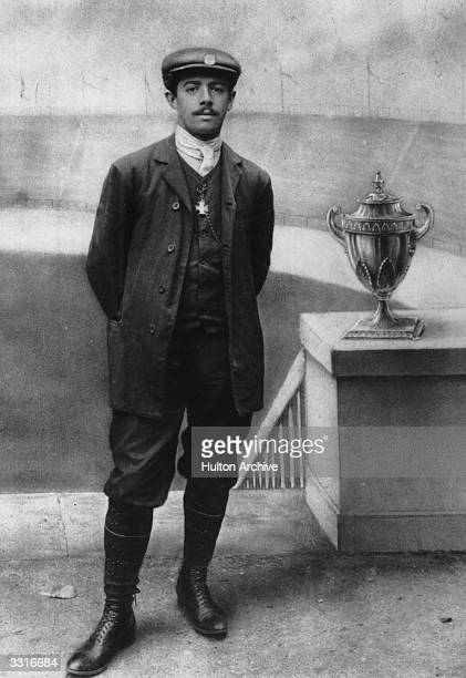 Dorando Pietri of Italy, the Marathon runner who finished first in the 1908 London Olympics, but was diqualified for being helped over the finish...