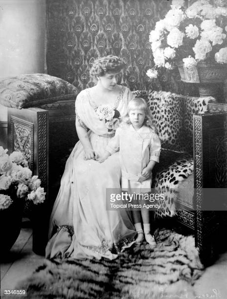 Marie , Queen of Romania with her son Nicolas. Marie was the daughter of Alfred, the Duke of Edinburgh , and she married Prince Ferdinand of Romania...