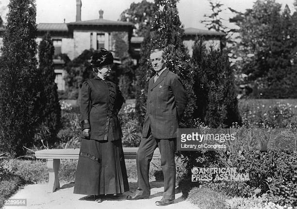 Woodrow Wilson the 28th President of the United States with his first wife Ellen Wilson