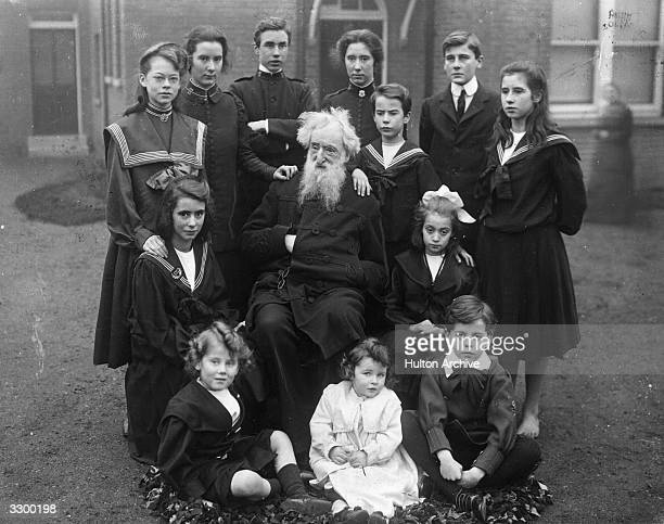 General William Booth founder of the Salvation Army surrounded by the younger members of his family Booth saw his calling as related to social reform...