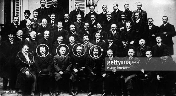 The International Film Congress in Paris Those circled from left to right are dignitaries in the profession namely Charles Pathe George Eastman...