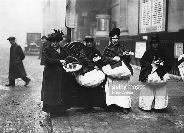 Three women selling cat's meat on the streets of Camberwell London