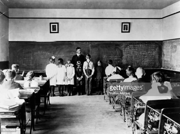 Classroom in the County School, Regina, Saskatchewan, Canada.