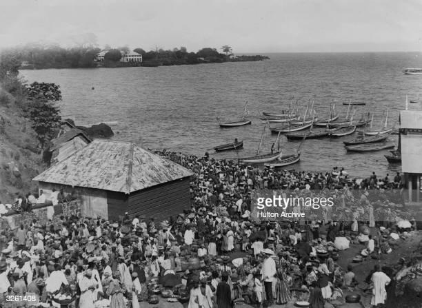 A Saturday market in Freetown Sierra Leone