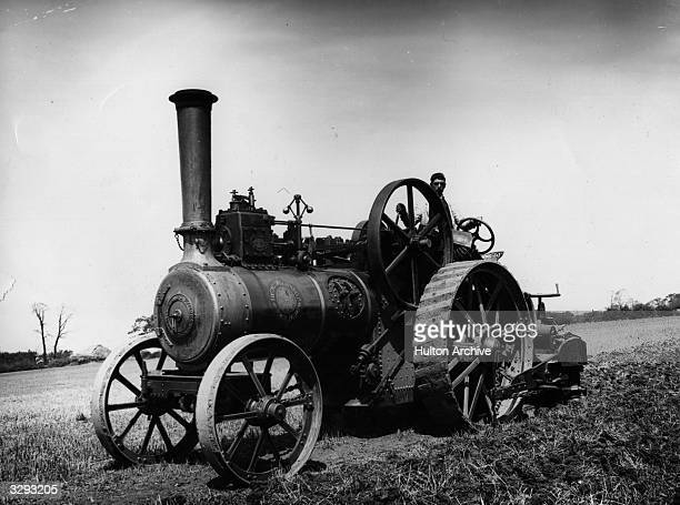 A traction engine at work