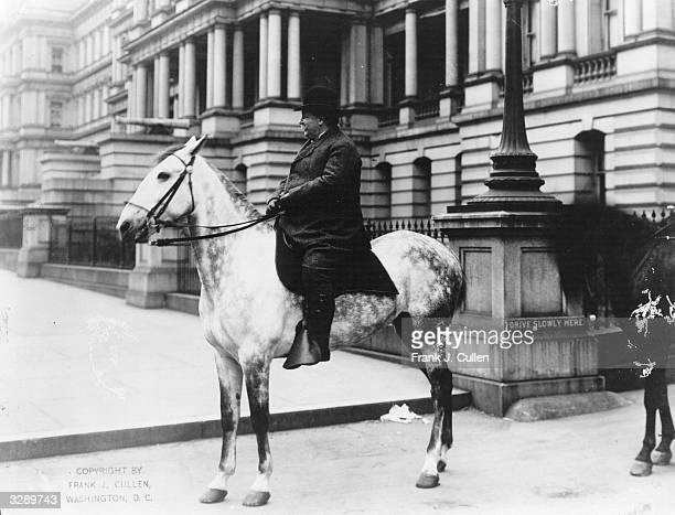American politician William Howard Taft the 27th President of the United States of America on horseback