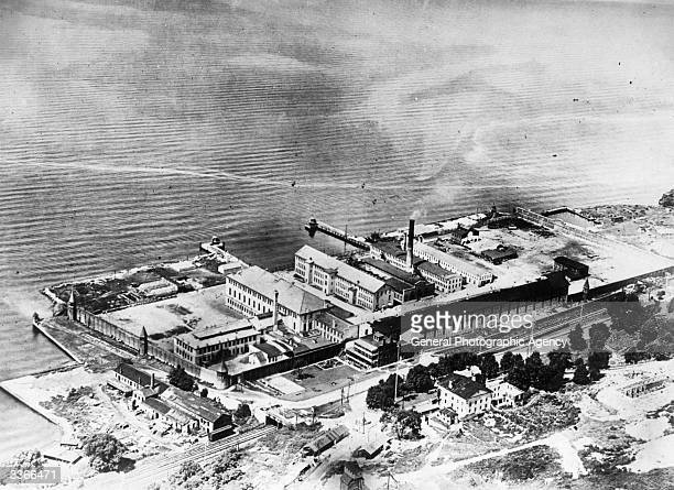 An aerial view of Sing Sing Prison near New York