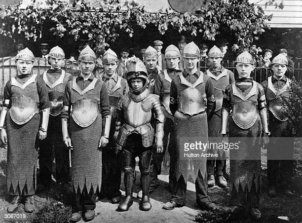 Armour worn by Lichfield youths when the Couyrt of Arraye is opened and an ancient festival is celebrated with Bower cakes for the children.