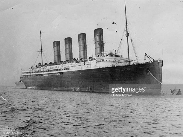 British liner the 'Lusitania' which was sunk off Kinsale on the Irish coast by a German Uboat in 1915
