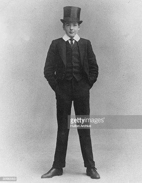 British statesman Sir Robert Anthony Eden 1st Earl of Avon aged thirteen wearing his Eton school uniform