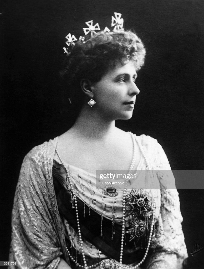 Crown Princess Marie (1875 - 1938) of Romania, wife of the future King Ferdinand of Romania.