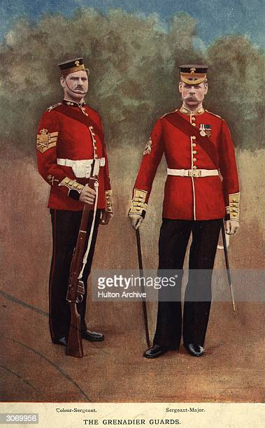 From left to right a ColourSergeant and a SergeantMajor of the Grenadier Guards Gregory Co London