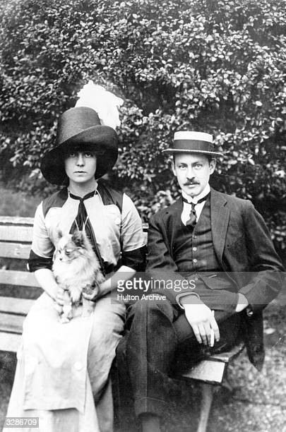 John Barrymore younger brother of Lionel Barrymore also an American actor His most famous role was that of 'Hamlet' He is seen here with his bride