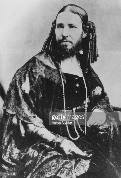 Josephine Boisdechene Versoix later Josephine Clofullia who appeared as the bearded lady of P T Barnum's circus as Madame Zorro or The Bearded Lady...