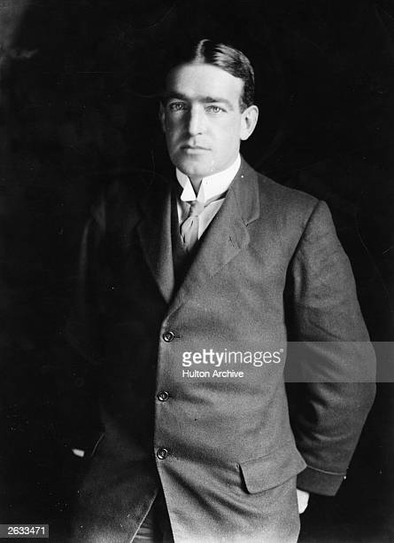 Portrait of Irish explorer Ernest Henry Shackleton circa 1910 He was a junior officer under Captain Robert Scott on his National Antarctic Expedition...