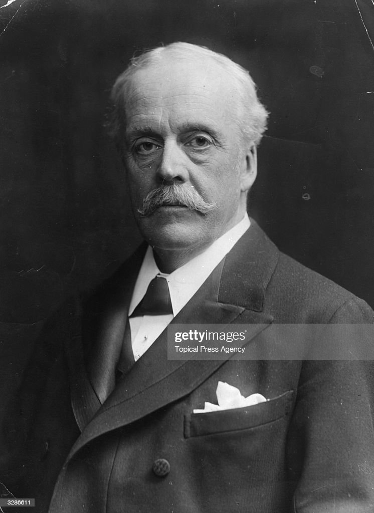 Scottish statesman Arthur Balfour (1848 - 1930). Balfour inherited his family's East Lothian estate in 1856 and first entered parliament in 1874 as the Conservative member for Hertford. He quickly progressed through various government posts including Secretary for Scotland (1886), Secretary for Ireland (1887), First Lord of the Treasury and, on the death of his uncle Lord Salisbury, Leader in the Commons (1892 - 1893). In July 1902 he became Prime Minister, resigning in 1905 but returning in 1916 to serve as Lloyd George's Foreign Secretary. He also represented Britain in the first assembly of the League of Nations.