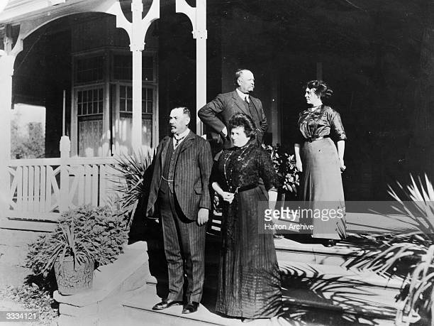 South African statesman and soldier General Louis Botha with his wife at their house in Pretoria.
