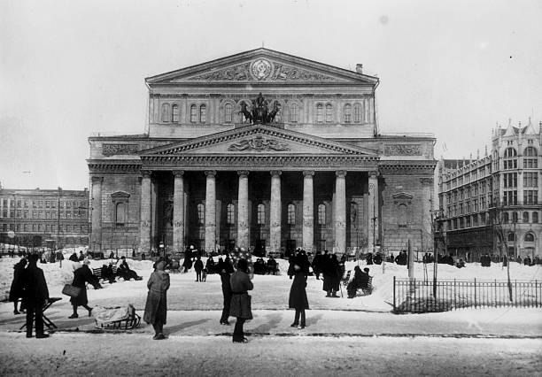 The Bolshoi Theatre, Moscow, an example of Russian...