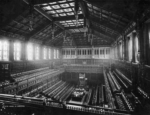 The House of Commons in the Houses of Parliament, at...