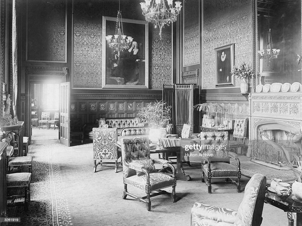 The Interior Of Speakers House, In The Houses Of Parliament, London.