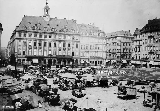 The old market in Dresden.
