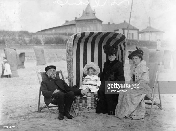 The Rothschild family spend some time on the beach