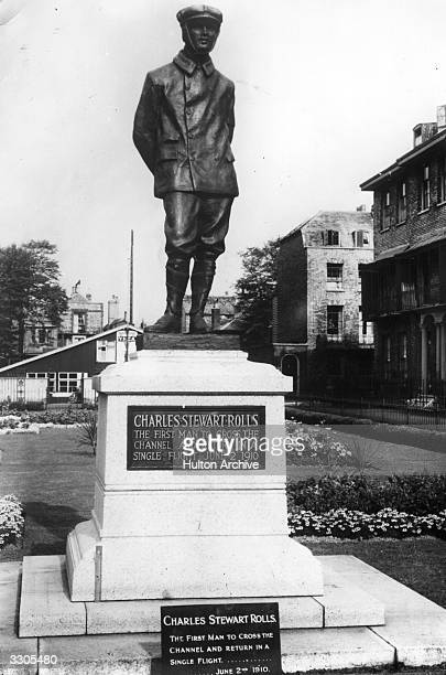 The statue at Dover to the motor car manufacturer and aviator Charles Stewart Rolls, , who in 1906 went into partnership with Henry Royce. In 1910 he...