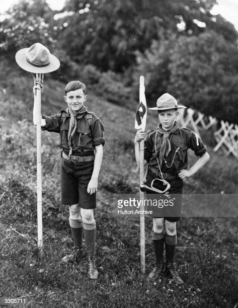 Two Boy Scouts on camp in Weymouth