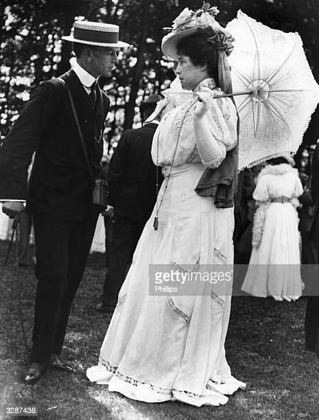 Lady de Bathe formerly Lillie Langtry attends a social gathering