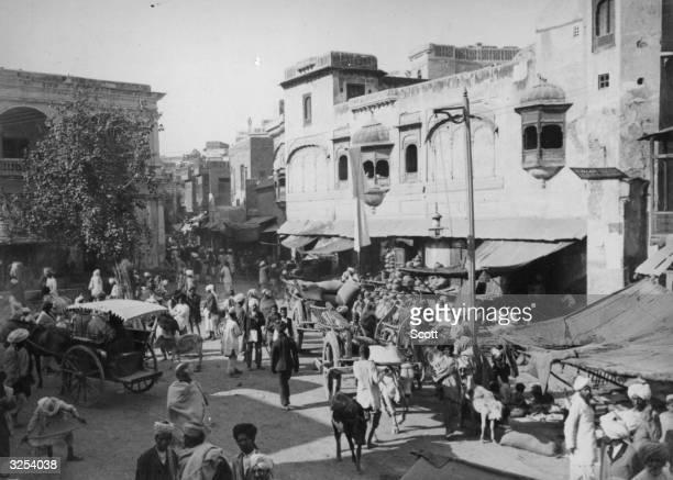 A street scene in Lahore
