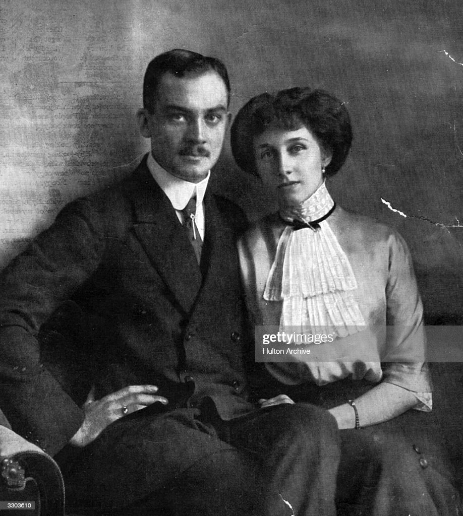 Prince Ernst of Brunswick-Luneburg (1887 - 1953) son of Ernst August, Duke of Cumberland, with his wife, Victoria Louise (1892 - 1980).