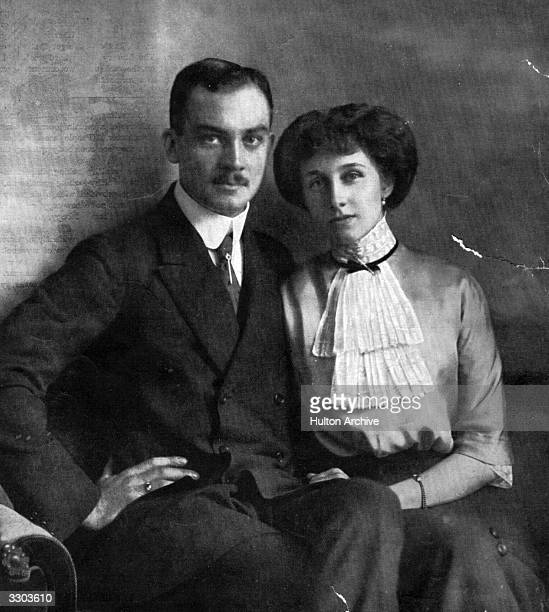Prince Ernst of Brunswick-Luneburg son of Ernst August, Duke of Cumberland, with his wife, Victoria Louise .