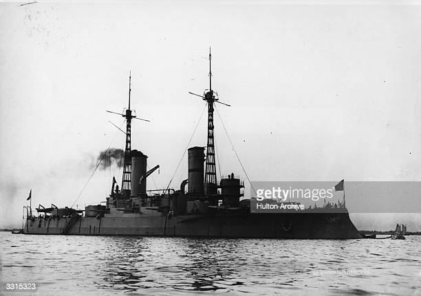The Russian ironclad battleship 'Emperor Paul I' built in 1910