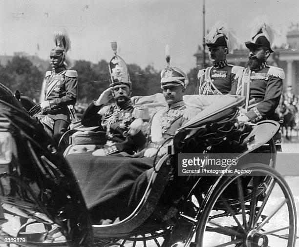 Kaiser Wilhelm II of Germany with Tsar Nicholas II of Russia