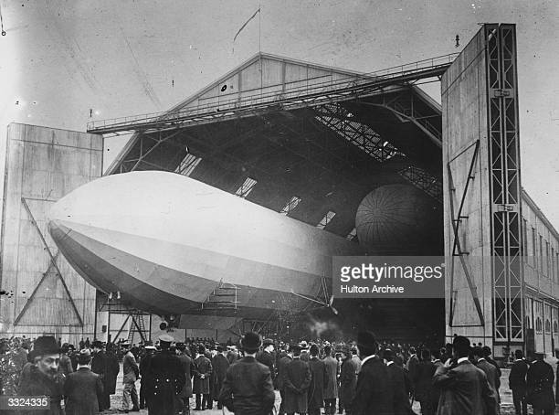 An airship shed at Dusseldorf