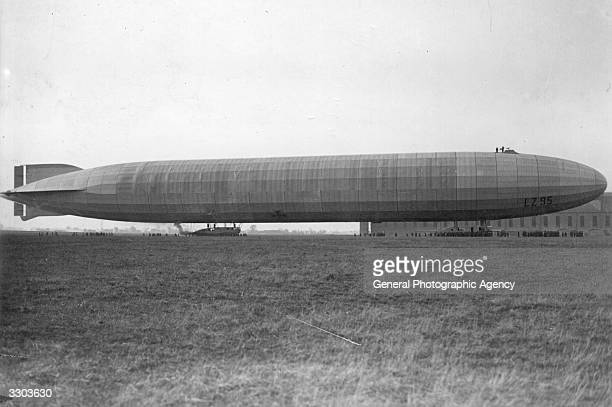 German Zeppelin used in raids on French strategic points on the west front During 1916 whilst on one of the raids the Zeppelin was badly holed by...