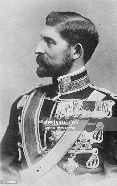 King Ferdinand I of Romania in uniform with his medals