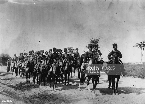 Russian cossacks on the march