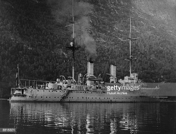 The German battleship 'Hertha' whose design was influenced by the 'Dreadnought'