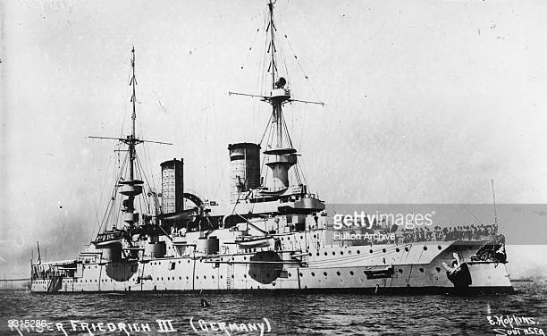 The German warship 'Kaiser Friedrich III' at sea