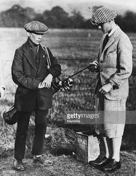 Edward Prince of Wales later to be King Edward VIII having his first golf lesson