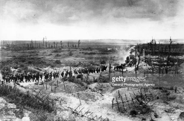 Germans advancing in the Champagne district of France south of Paris